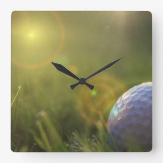 Golf on a Sunny Day Wallclock