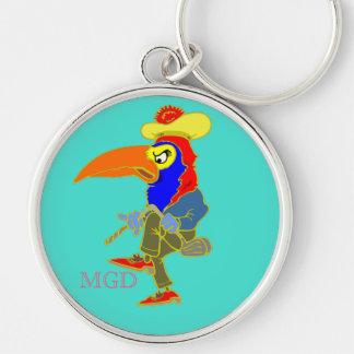 Golf original angry bird funny monogram keychain