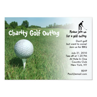 Golf Outing Charity Party Invitation