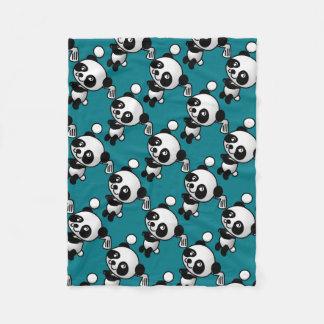 Golf Panda Fleece Blanket