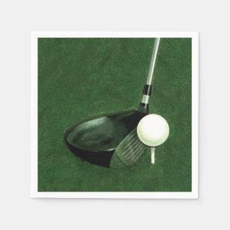 golf paper napkins