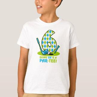 Golf Par-Tee 6th Birthday T-Shirt