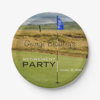 Golf Personalized Retirement Party Paper Plate
