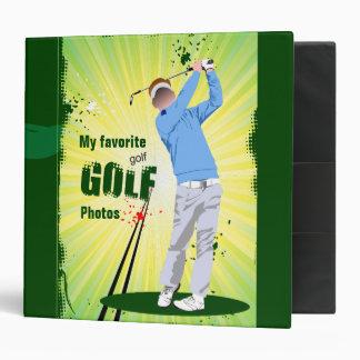 Golf photo album. 3 ring binder