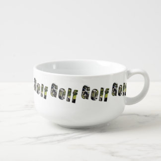 Golf Picture Logo, Soup Mug. Soup Mug