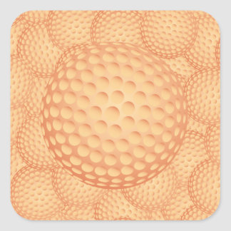 golf pile square sticker