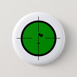 Golf Pin in the Crosshairs