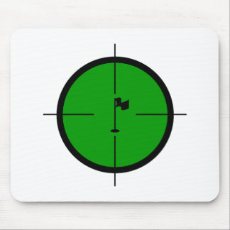 Golf Pin in the Crosshairs Mouse Pad