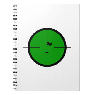 Golf Pin in the Crosshairs Notebooks