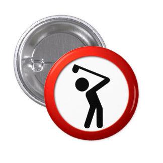 Golf Player 1 Inch Round Button