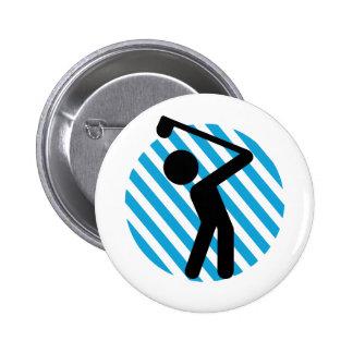 Golf Player 2 Inch Round Button