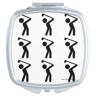 Golf Player Compact Mirror