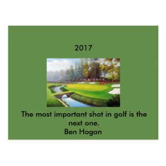Golf Postcard with a Ben Hogan quote