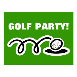Golf postcards for party invitations and meetings