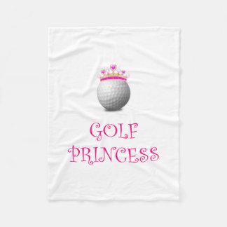 Golf Princess Fleece Blanket
