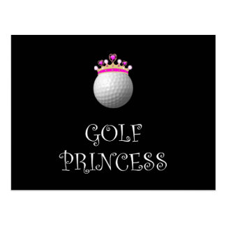 Golf Princess Postcard