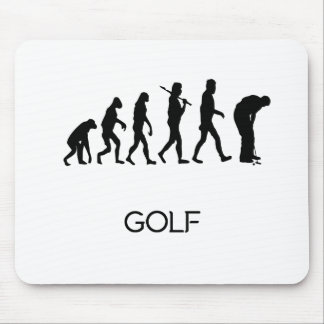 Golf Putt Evolution Mouse Pad