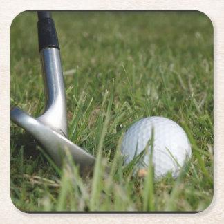 Golf Putter Square Paper Coaster