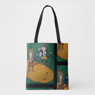 Golf Putting Cats Tote Bag