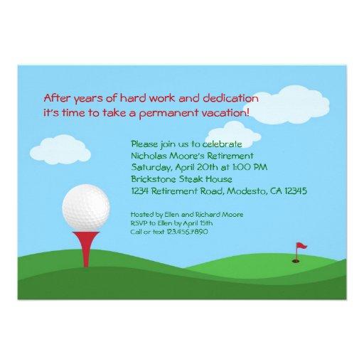 Golf Retirement Party ...