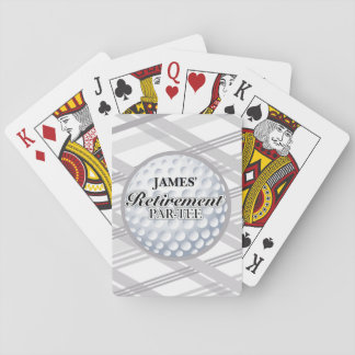 Golf Retirement Party Playing Cards