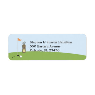Golf Return Address Labels