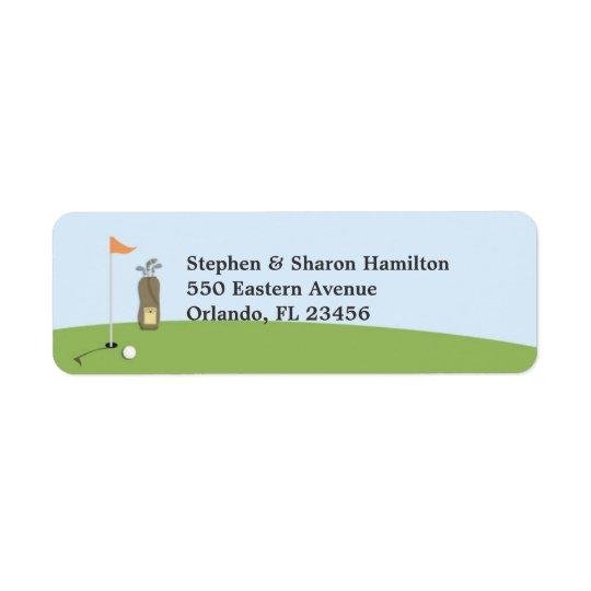 Golf Return Address Labels