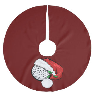 Golf Santa Cap for Christmas Brushed Polyester Tree Skirt