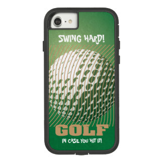 Golf series 1 gold tone on green Case-Mate tough extreme iPhone 8/7 case