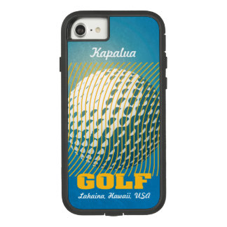 Golf series 1 orange on blue Case-Mate tough extreme iPhone 8/7 case