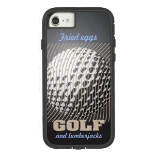 Golf series 1 taupe on black Case-Mate tough extreme iPhone 8/7 case