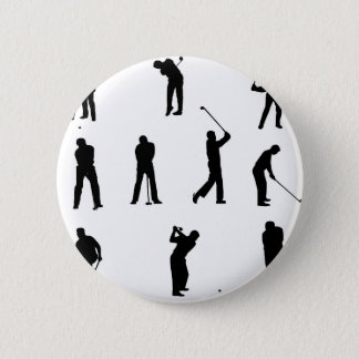 golf-silhouettes. 2 inch round button