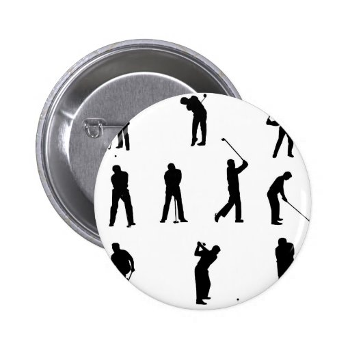 golf-silhouettes. buttons
