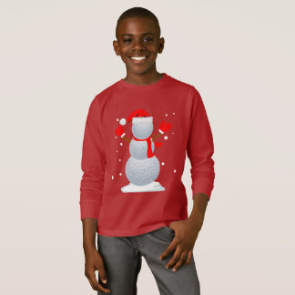 Golf Snowman T-Shirt Funny Christmas Gift Shirt