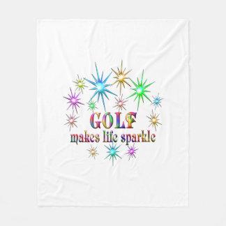 Golf Sparkles Fleece Blanket