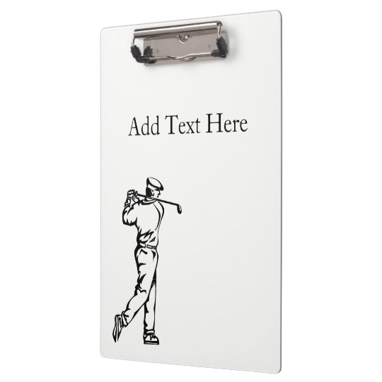 Golf Sport Custom Front and Back Clipboard