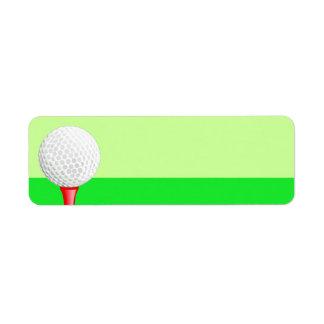 Golf Sport Label Return Address Label