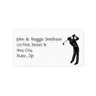 Golf, Sport, Motivational Words Custom Address