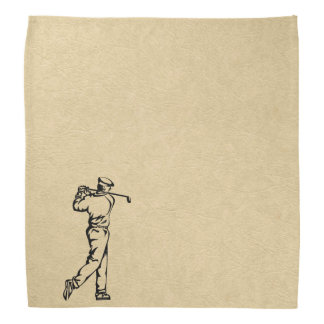 Golf Sports Design on Leather Look Bandana