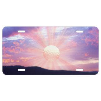 Golf sunrise license plate