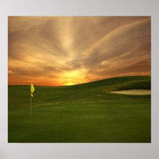 Golf Sunrise Poster