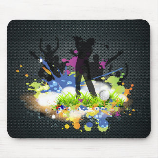 Golf Swing Supporters Cheer Modern Golfer Mouse Pad