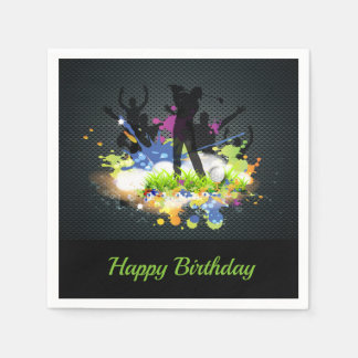 Golf Swing Supporters Personalized Modern Golfer Disposable Napkins