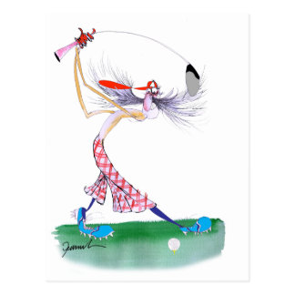 golf swing, tony fernandes postcard