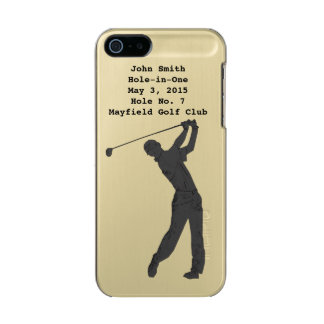 Golf Swinger, Hole-in-One, Customizable Text Incipio Feather® Shine iPhone 5 Case