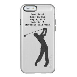 Golf Swinger, Hole-in-One, Customizable Text Incipio Feather® Shine iPhone 6 Case