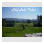 "Golf Tahoe Poster ""Golfing in Tahoe Collection"""