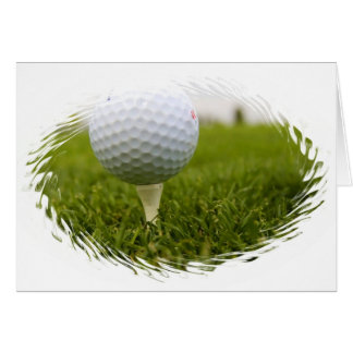 Golf Tee Design Greeting Card
