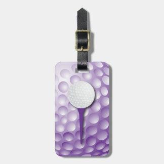 Golf Tee | Purple Luggage Tag