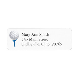 Golf Tee Return Address Labels